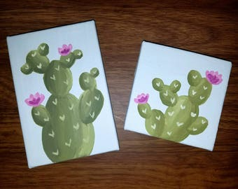 Cactus Paintings on Canvas   Home Decor