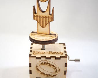 Lord of the Rings Music Box - Main Theme -Laser cut and laser engraved wood music box. Perfect gift, memorabilia or collectible