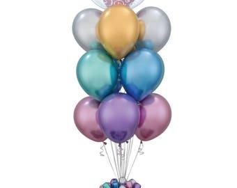 NEW Chrome Balloons, Chrome latex balloons, gold balloons, silver balloons, metallic balloons, baby shower balloons, wedding balloons,