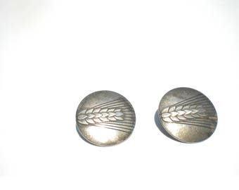 Georg Jensen Sterling Wheat Earrings 127 A Denmark