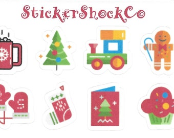 Christmas Stickers, Mini Planner Stickers, Cute Christmas Stickers, Holiday Stickers