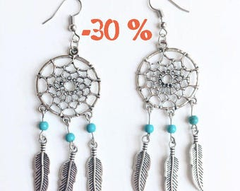SUMMER SALE / / / boho Dreamcatcher earrings