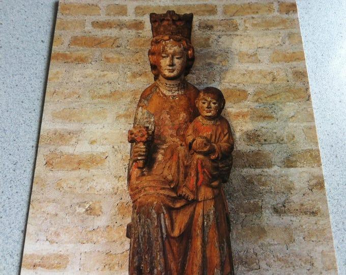 Vintage Religion Church Madonna mit Kind St Stephan - Rosa mystica Postcard Maria Photo