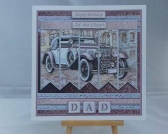Male birthday card - classic car