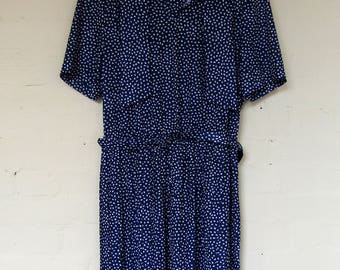 1980's summer day dress - size 16/18