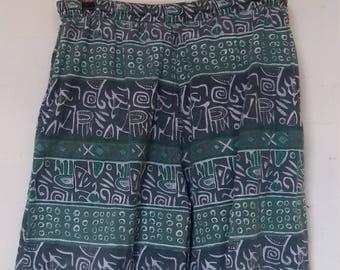 Men's green vintage bermuda shorts by C&A -Medium/Large