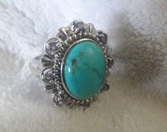Vintage Blue Gem Torquoise Ring!