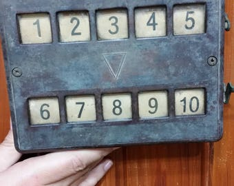 Antique Vintage Walnut Holtger and cabot annunciator for hotels ca 1880, hotel transylvania, hotel silver, hotel keychain, hotel key, hotel