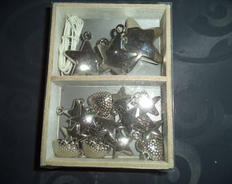 silver metal star charms
