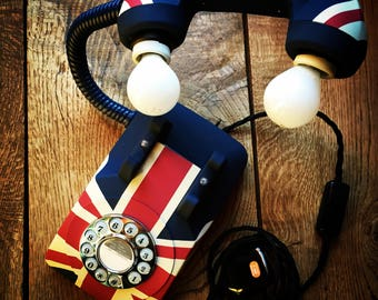 Union Jack Retro Style Telephone Light