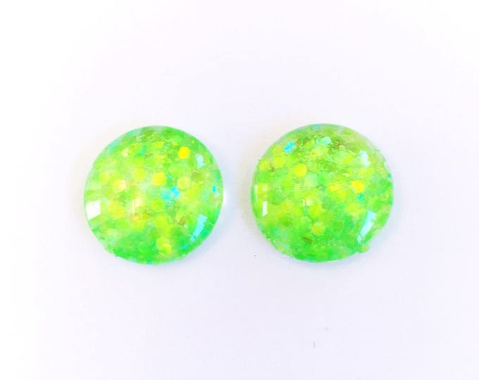 The 'Lime Shine' Glass Earring Studs
