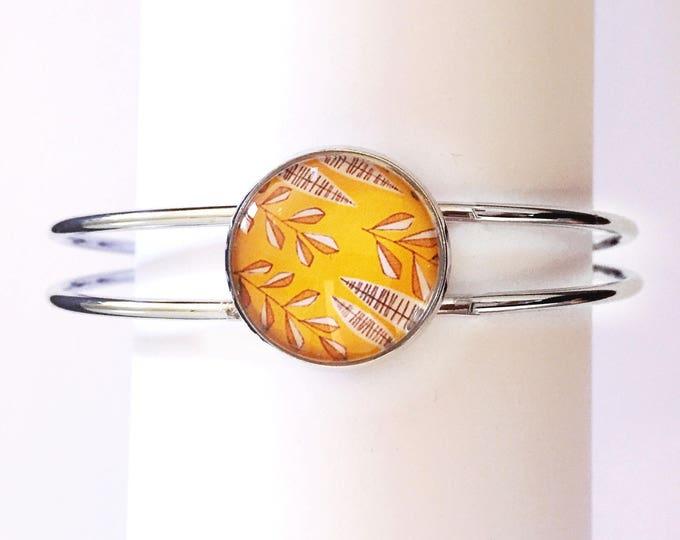 The 'Helena' Glass Cuff Bracelet