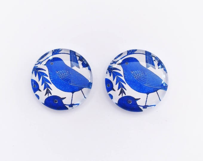 The 'Blue Bird' Glass Earring Studs