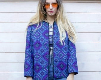Vintage 80's Quilted Patterned Jacket