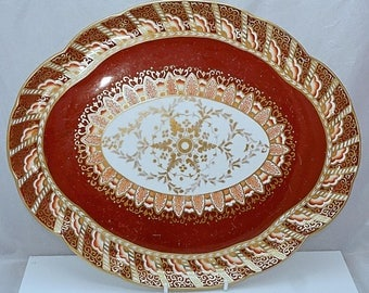COLLINGWOOD of LONGTON Staffordshire Porcelain TRAY 1887-1900 Hand Painted