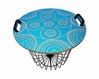 Side table / basket with lith named 'Aldawayir'