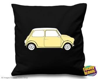 Mini Cooper Cream - Pillow Cushion Cover - Classic Mini Car