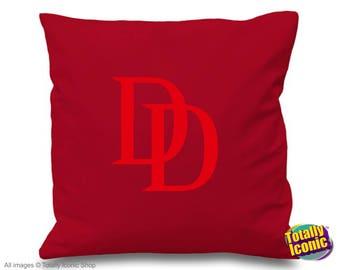 Daredevil Retro - Pillow Cushion Cover - Comic Book Hero Inspired character- Matt Murdock - Vigilante - Charlie Cox
