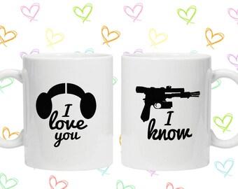 Star Wars i love you i know mug set valentines days gift idea
