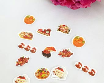 Dessert Die Cut Stickers// Planner Stickers// Scrapbook Stickers// Cake Journal Stickers