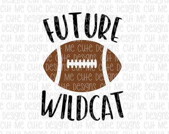 SVG DXF PNG cut file cricut silhouette cameo scrap booking Future Wildcat Football Player