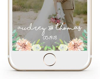 Custom Garden Wedding Snapchat Filter