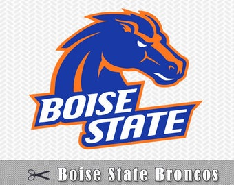 Boise State Broncos Layered SVG PNG Logo Vector Cut File Silhouette Studio Cameo Cricut Design Stencil Vinyl Decal Tshirt Transfer Iron on