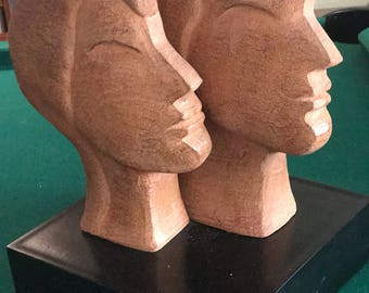 Beautiful two headed sculptured