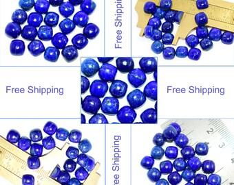 20Pcs Lapis lazuli Cushion gems/loose gemstone/lapis lazuli wholesale/(Size:7X7mm/8X8mm/9X9mm/10X10 mm/Custom Size) Worldwide Free Shipping