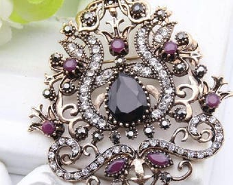 Turkish vintage jewelry brooch for women