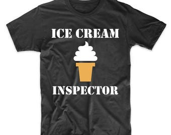 Ice Cream Inspector Funny T-Shirt