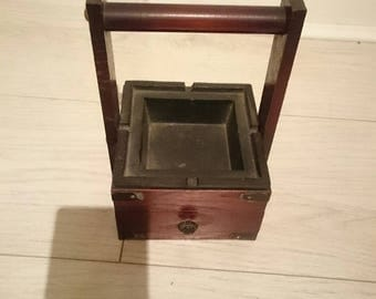 Japanese Antique Ashtray, Cigarette Case