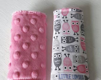 Car seat strap covers  - Girl Owl