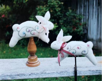 Cottontail Pincushion Pattern by Under the Garden Moon
