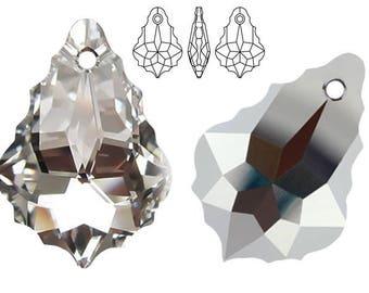 Swarovski Crystal 6090 Baroque 16mm, 22mm - Crystal CAL