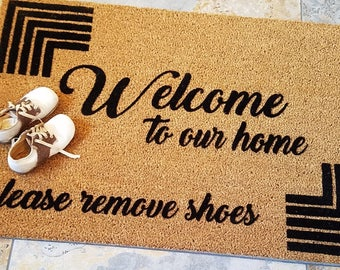 No Shoes Doormat, Handmade doormat, Gifts for Her, Unique Gifts, Gift Ideas for Women, Gifts for Wife,