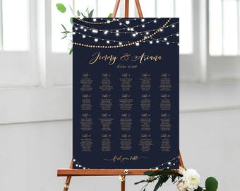 Rush 12 Hours, Wedding Seating Chart Poster, Wedding seating chart alphabetical, Wedding Seating Chart, Boho Wedding Seating Chart  USWC0201