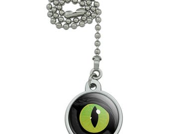 Cat Green Eye Ceiling Fan and Light Pull Chain