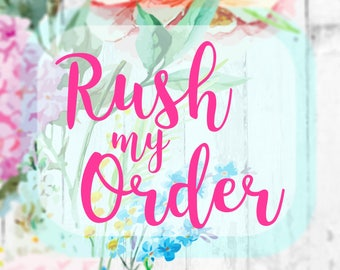 RUSH ORDER Add this listing to your order to get it processed faster - Per Item