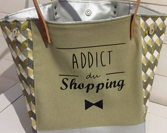 """SHOPPING ADDICT"" tote bag"