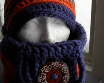 handmade hat and snood