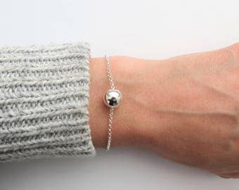 Sterling Silver Wish Bracelet, Layering Silver Bracelet, Minimal Bracelet, Everyday Bracelet, Bridesmaid Bracelet, Wife Gift, Gift for Her
