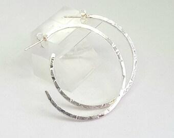 Hoop earrings - handcrafted sterling silver hoop earrings with charms