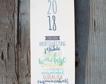 "Wall Calendar 2018-""Piccolo"""