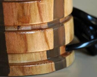 wood lantern etsy. Black Bedroom Furniture Sets. Home Design Ideas
