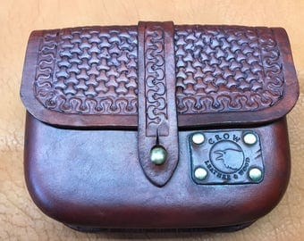 Hand crafted leather belt pouch for just about anything