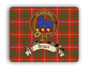 Scottish Clan Bruce Crest Computer Mouse Pad