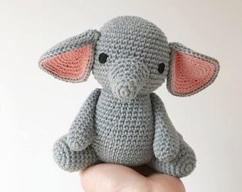 Elephant baby gift etsy elephant crochet amigurumi elephant elephant baby gift elephant newborn gift elephant gift negle Images