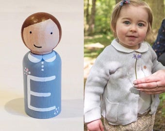 Alphabet Peg Dolls - Wooden Peg Dolls - Bookshelf - Waldorf Toys - Waldorf Inspired - Peg Doll Gifts - Learn Your Name - Waldorf Toys - Gift