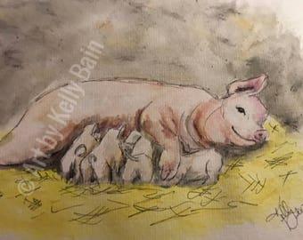Mama & piggies